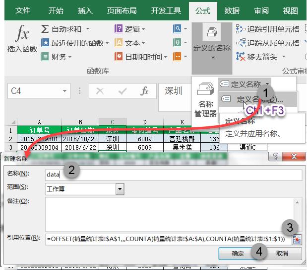 offset+counta函数的另类引用。Excel 数据透视表动态引用数据源,新增记录自动添加到透视表区域